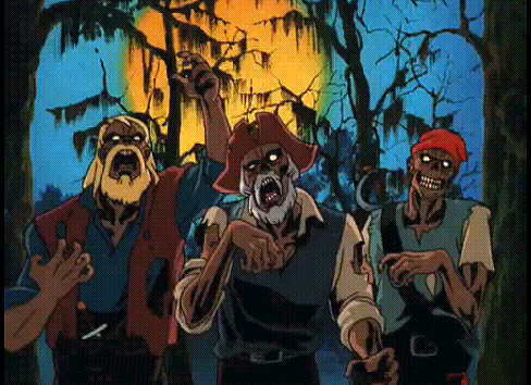 The meddler just found out that g-g-g-ghost pirates AND zombies are real. I think they've made up for lost time, yeah?