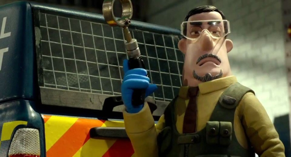 The very nasty Officer Trumper, voiced (if you can call it that) by Omid Djalili.