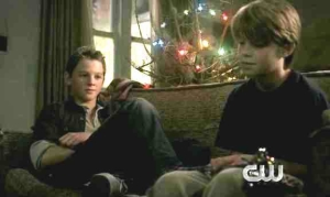 Young Dean and Young Sam, spending Christmas at a hotel while their dad goes out and kills something.