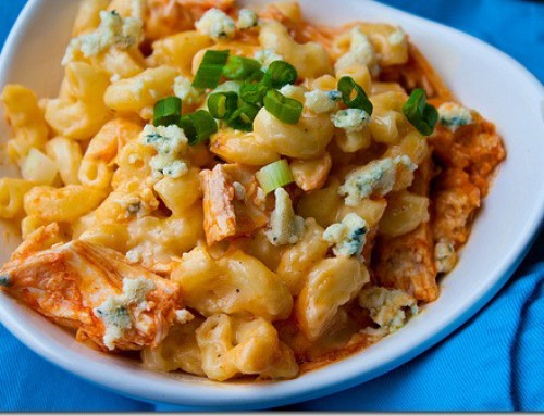 Striking Banana Car's Buffalo Chicken Mac & Cheese Massacre